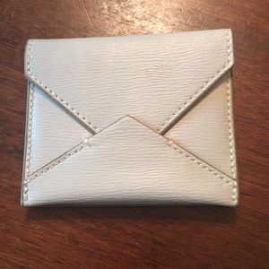 Cream Leather Banana Republic Card Holder